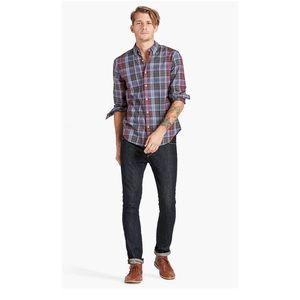 Men's Lucky Brand Madras Plaid  Long Sleeve Shirt